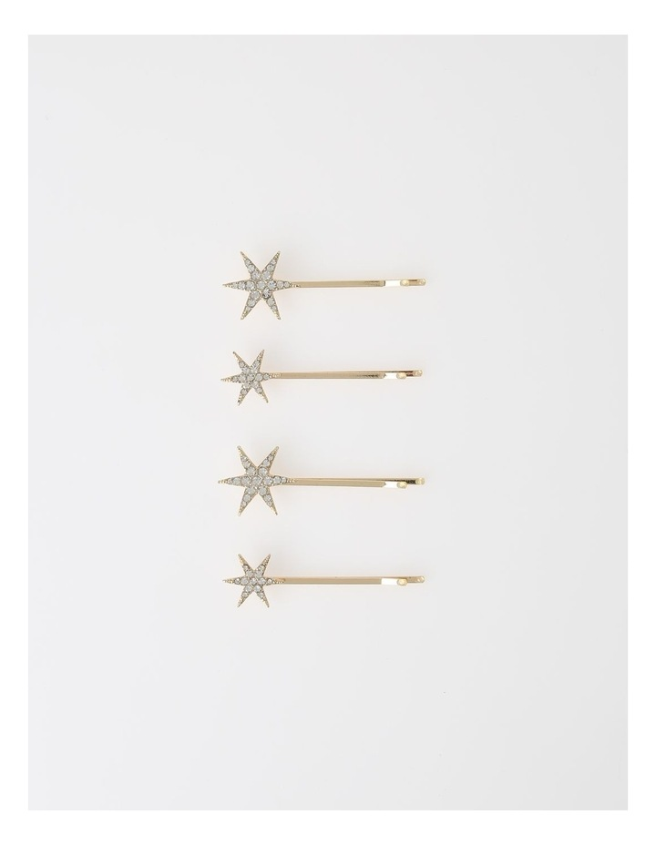 4 Pack Star Bobby Pins image 1