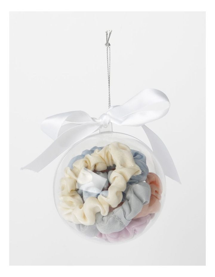 6Pk Small Scrunchie Xmas Bauble Hair Accessory image 1