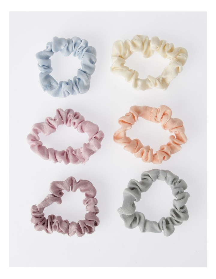 6Pk Small Scrunchie Xmas Bauble Hair Accessory image 2