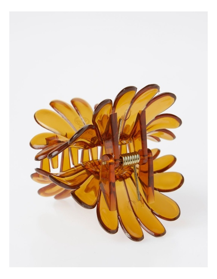 Large Brown Flower Hair Clip Hair Accessory image 2