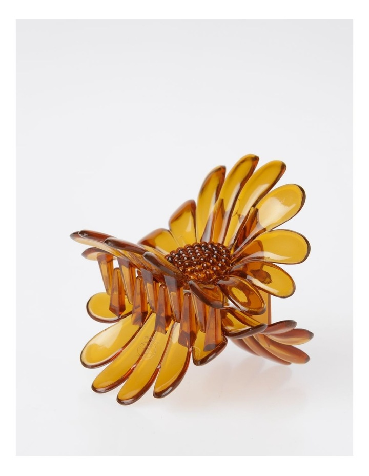 Large Brown Flower Hair Clip Hair Accessory image 3