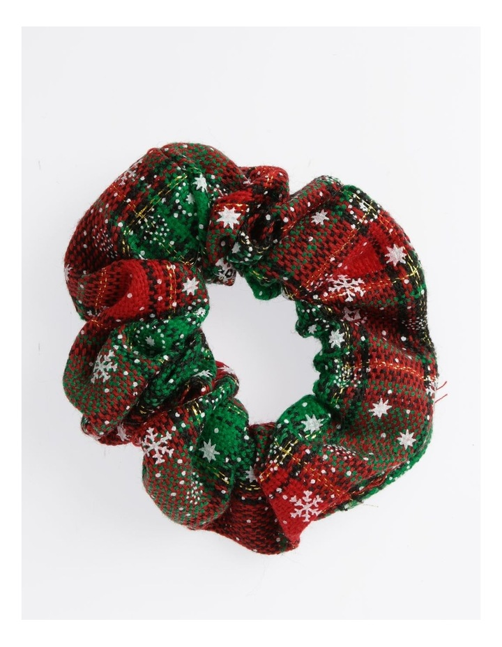 Checked Xmas Scrunchie Hair Accessory image 1