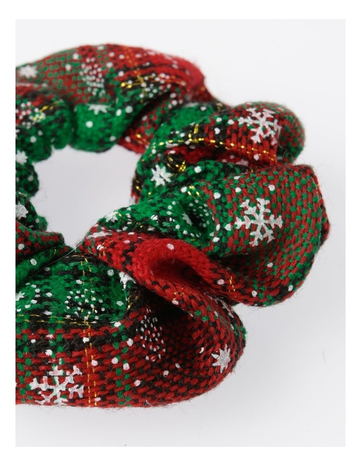 Checked Xmas Scrunchie Hair Accessory image 2