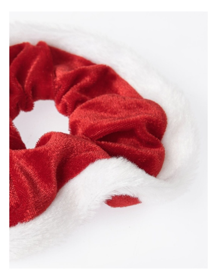 Santa Trim Xmas Scrunchie Hair Accessory image 2
