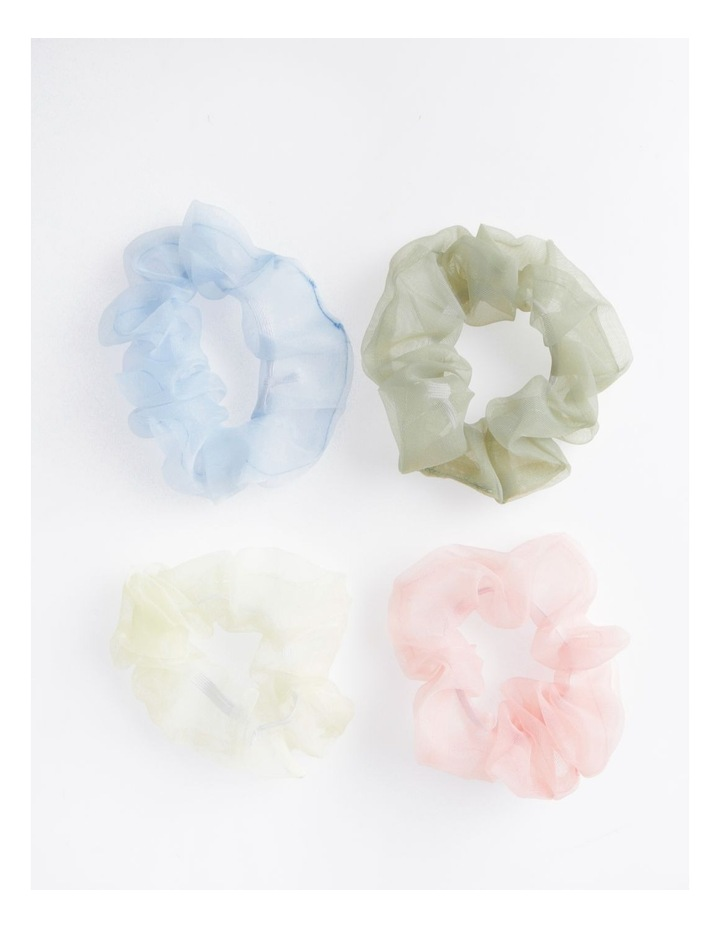 4Pk Sheer Scrunchie Xmas Bauble Hair Accessory image 2