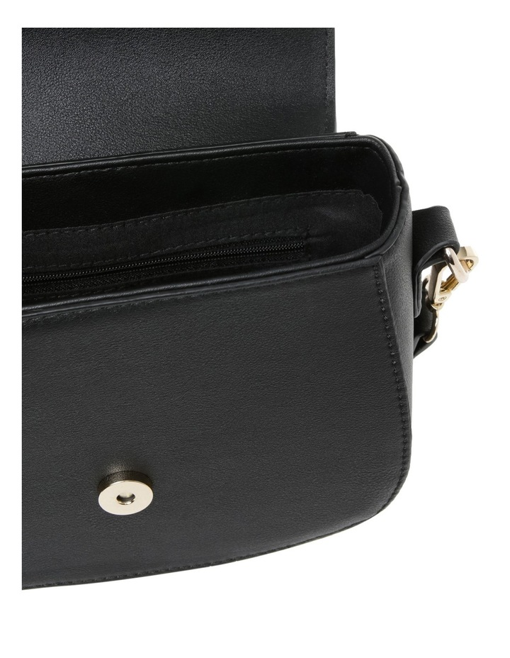 Suede Mix Saddle Bag image 4