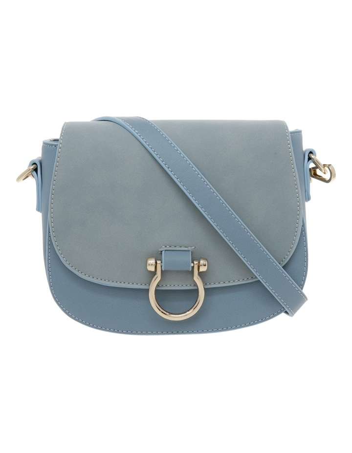 Suede Mix Saddle Bag image 1