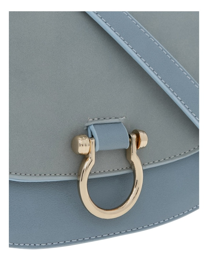 Suede Mix Saddle Bag image 3