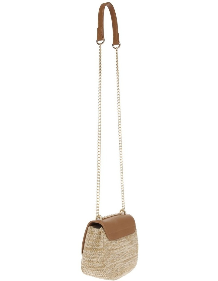 Straw Bag With PU Flap Over Bag image 2