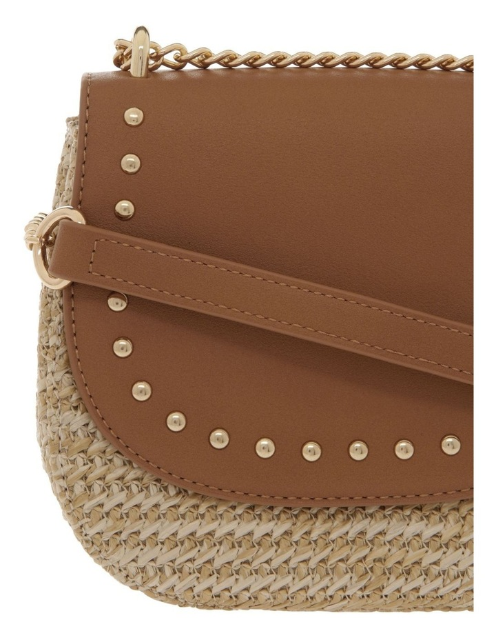 Straw Bag With PU Flap Over Bag image 3