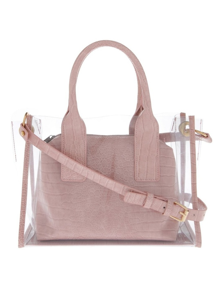 Clear Tote Bag with Croc Insert image 1