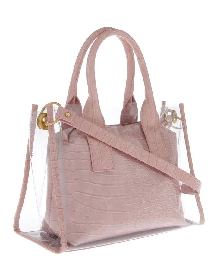 Clear Tote Bag with Croc Insert image 2
