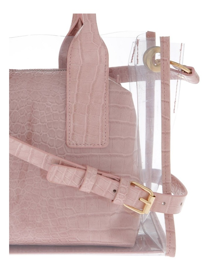 Clear Tote Bag with Croc Insert image 3