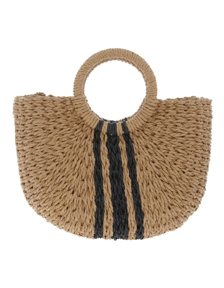 Straw Basket Stripe Bag image 1