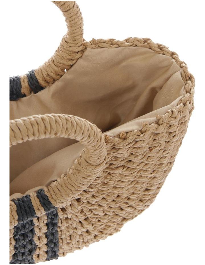 Straw Basket Stripe Bag image 4