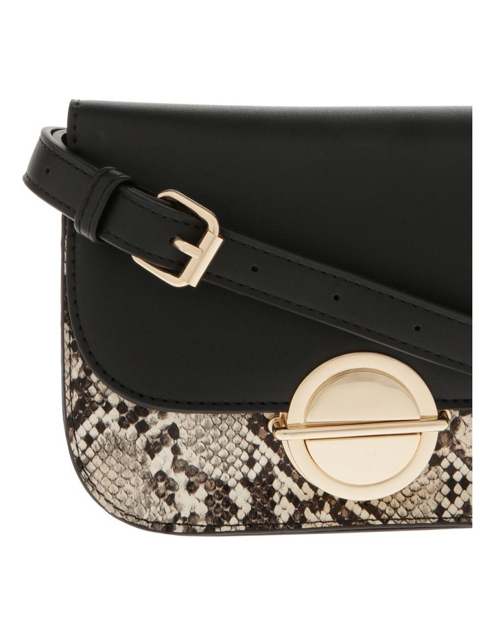 Print Suede Flap Over Bag image 3
