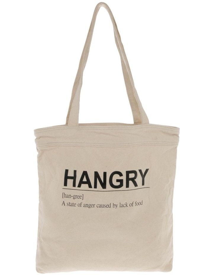 Hangry Canvas Tote Bag image 1