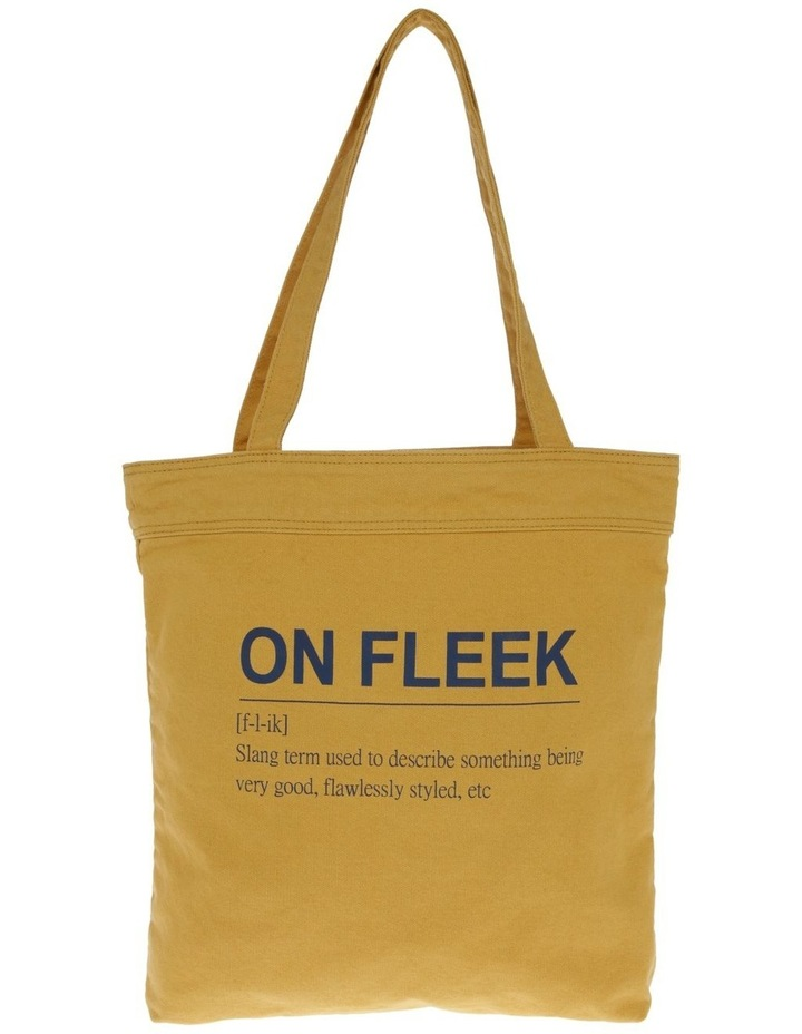 On Fleek Canvas Tote Bag image 1