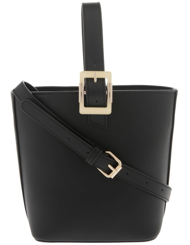 Marble Buckle Top Handle Bucket Bag image 1