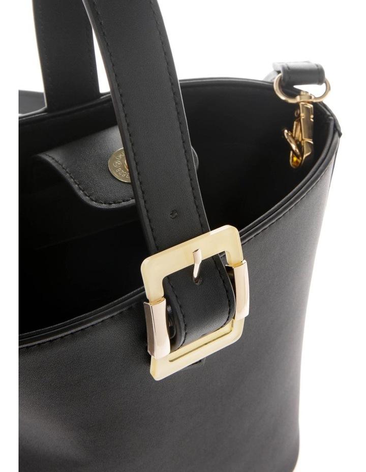 Marble Buckle Top Handle Bucket Bag image 4