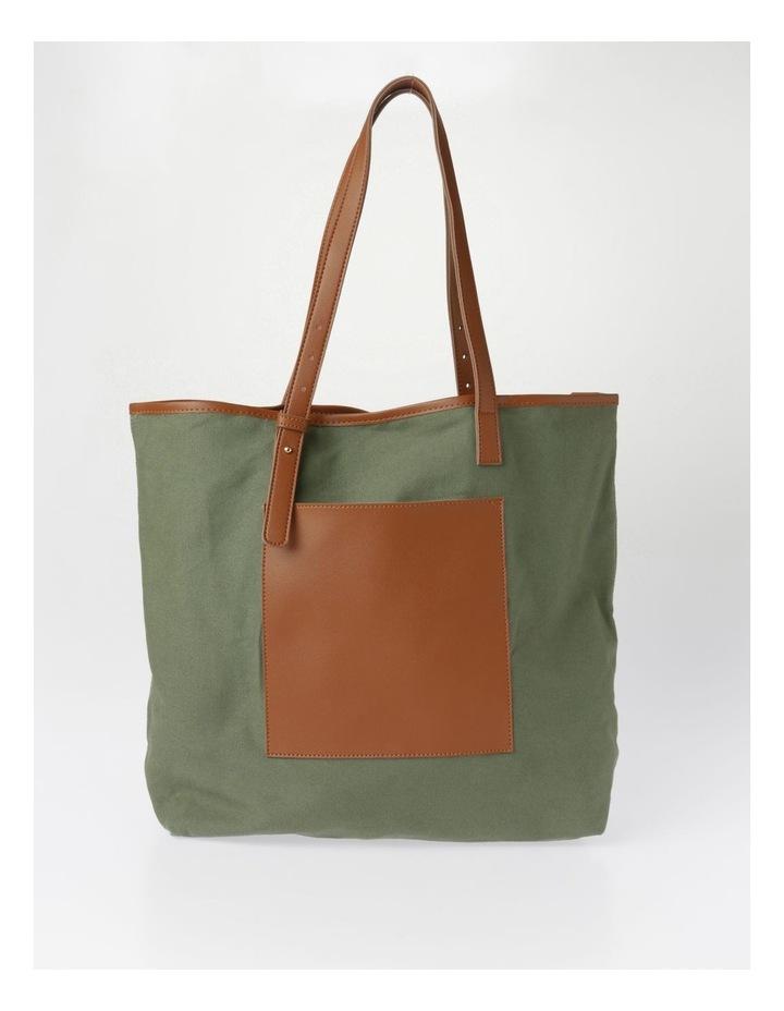 Contrast Pocket Tote Bag image 1
