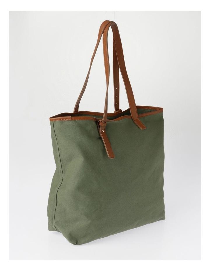 Contrast Pocket Tote Bag image 2