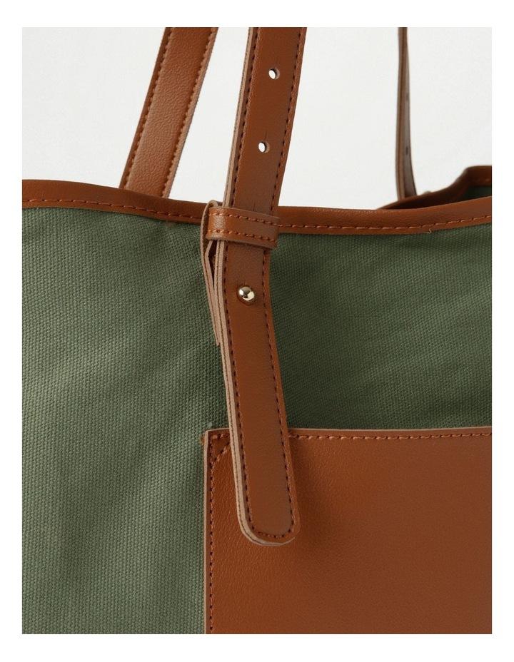 Contrast Pocket Tote Bag image 3