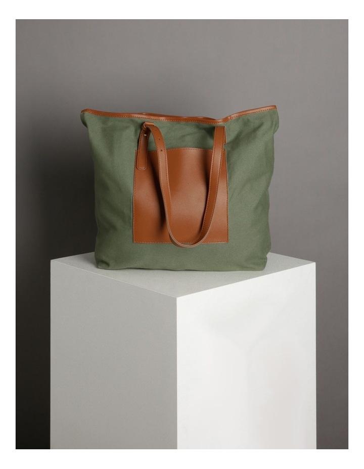 Contrast Pocket Tote Bag image 5