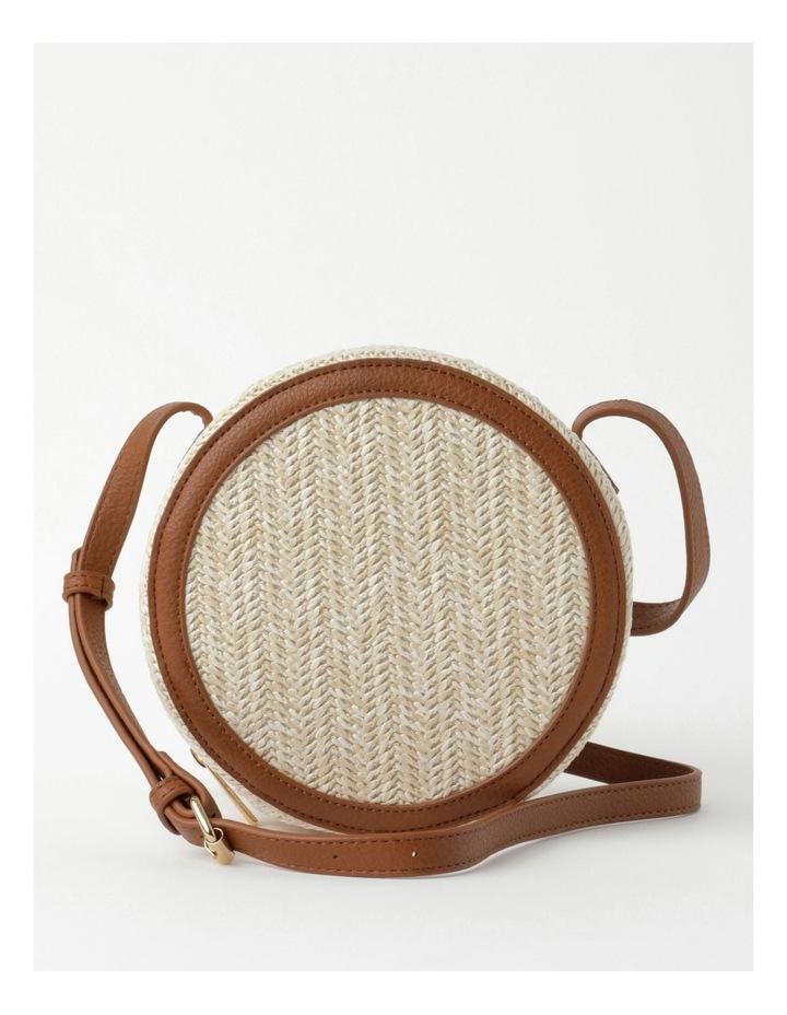 Round Straw Crossbody Bag image 1