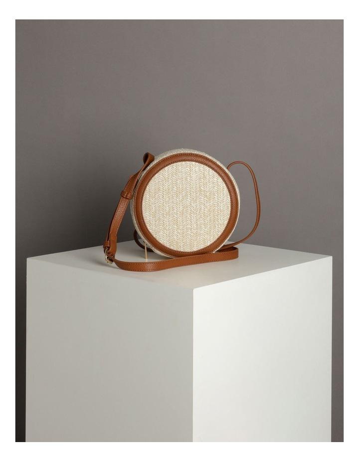 Round Straw Crossbody Bag image 5