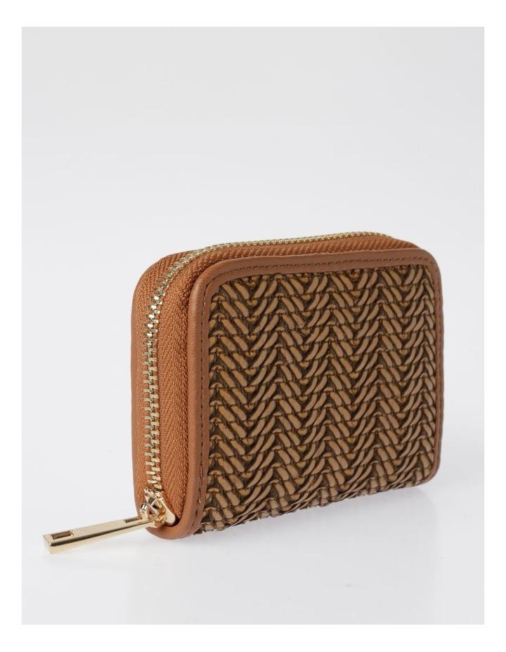 EBG7064 Zip Around Straw Wallet image 2