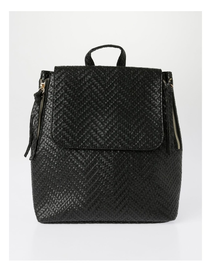 EBG11295 Flap Over Straw Backpack Bag image 1