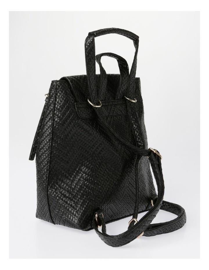 EBG11295 Flap Over Straw Backpack Bag image 2