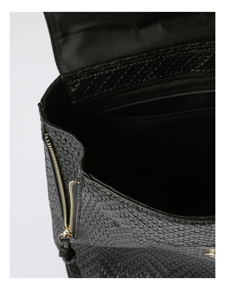 EBG11295 Flap Over Straw Backpack Bag image 4