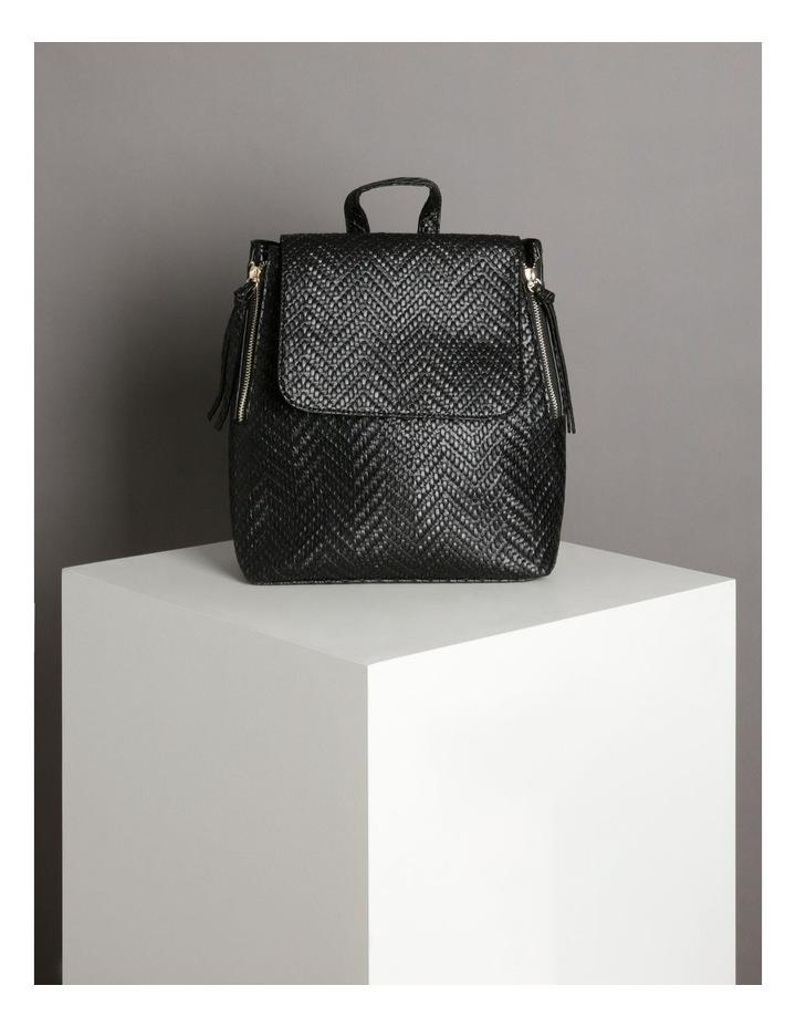 EBG11295 Flap Over Straw Backpack Bag image 5