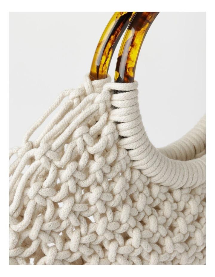 Double-Handle Macrame Bag image 3