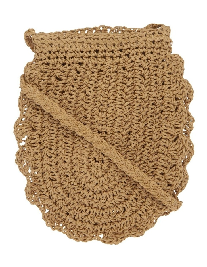 Scallop Edge Straw Crossbody Bag image 1