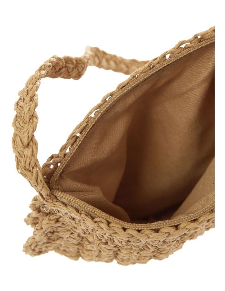 Scallop Edge Straw Crossbody Bag image 4