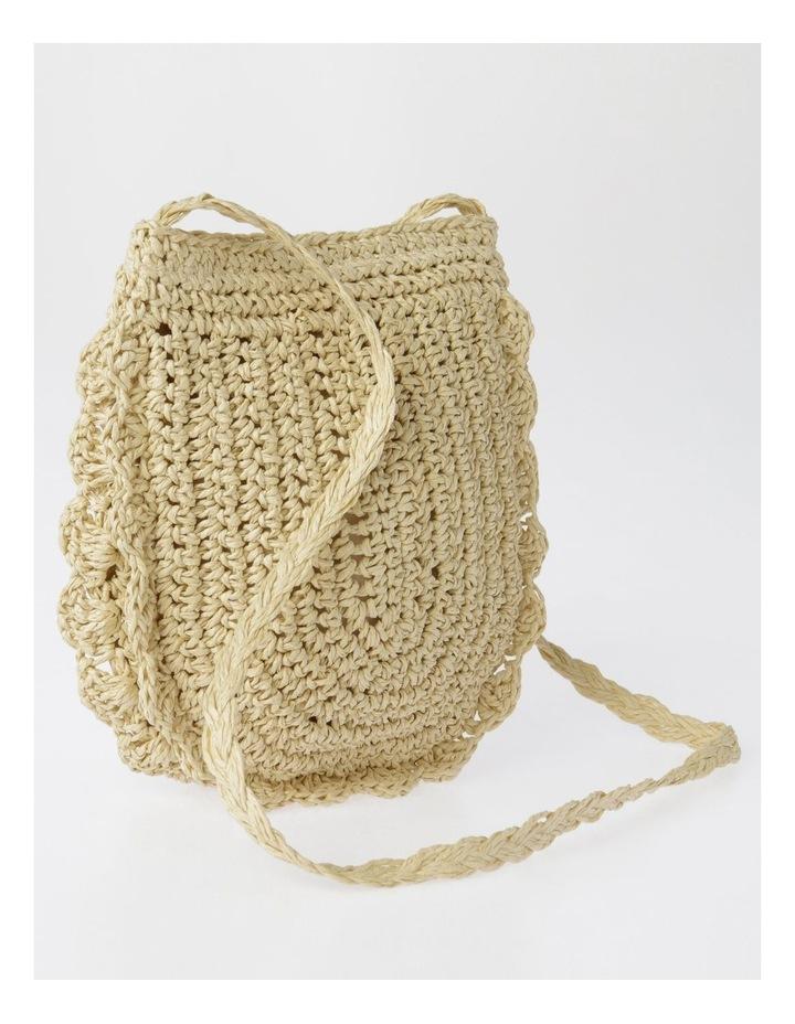 Scallop Edge Straw Crossbody Bag image 2