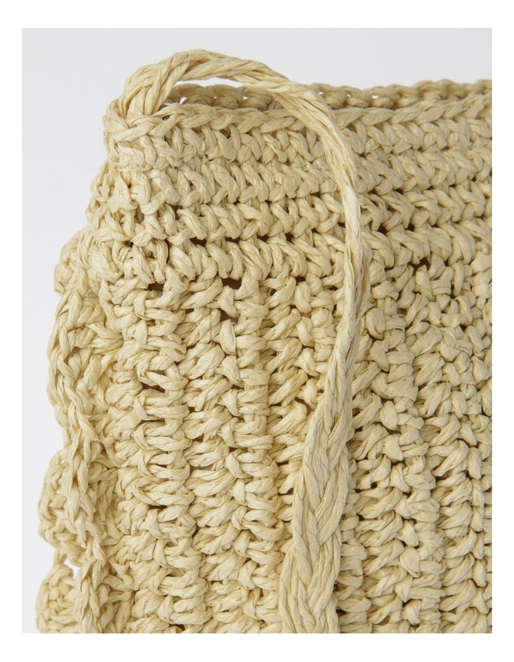 Scallop Edge Straw Crossbody Bag image 3