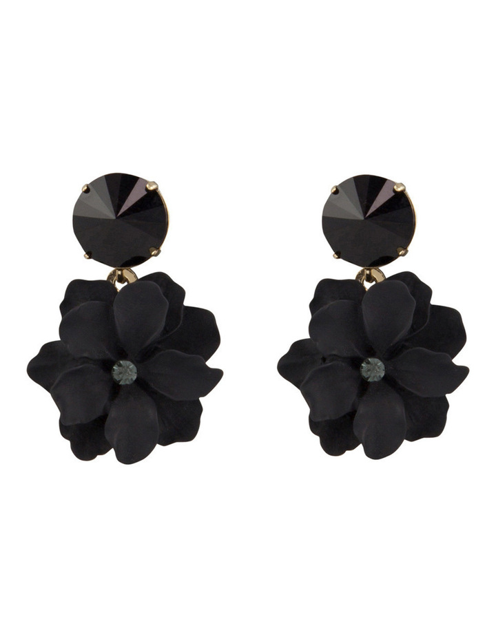 Flower & Stone Earring image 1