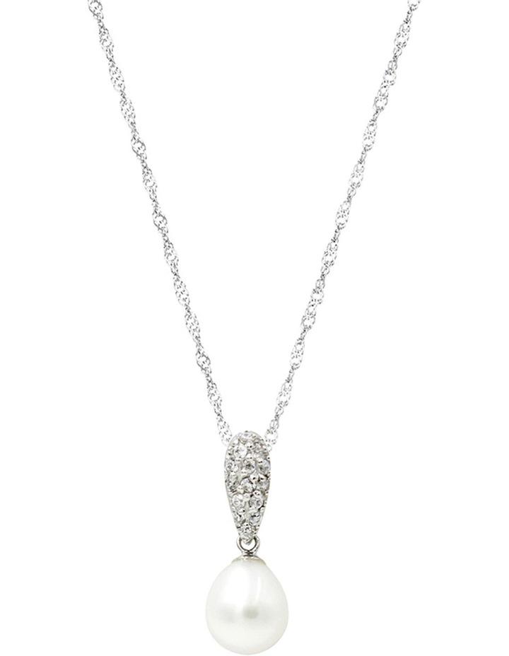 Gift Box Silver Pearl Pendant image 1