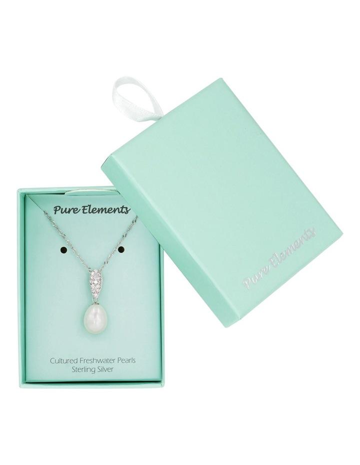 Gift Box Silver Pearl Pendant image 3