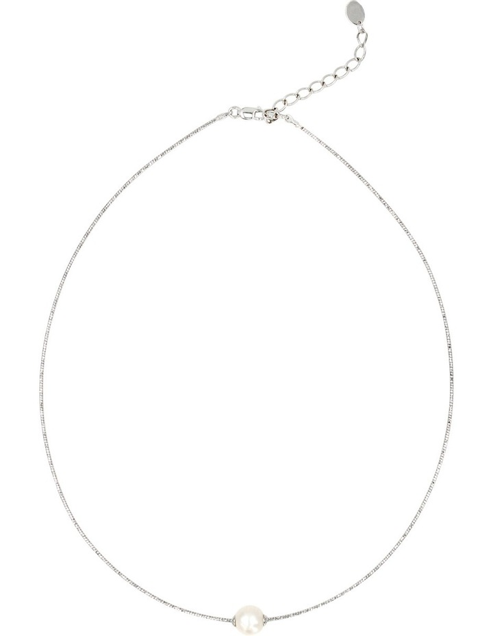 Omega Wire Pearl Necklace image 1