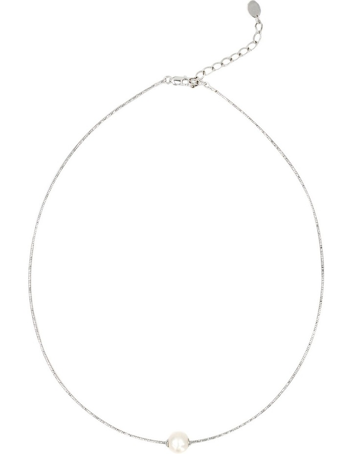 Omega Wire Pearl Necklace image 2