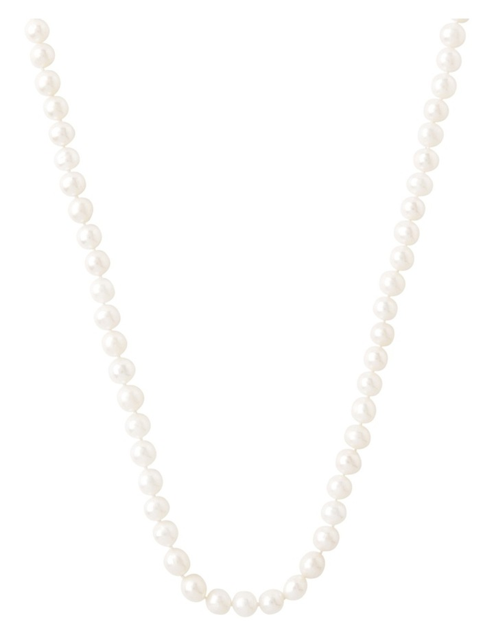 Cultured Freshwater Pearl Sterling Silver Necklace image 1