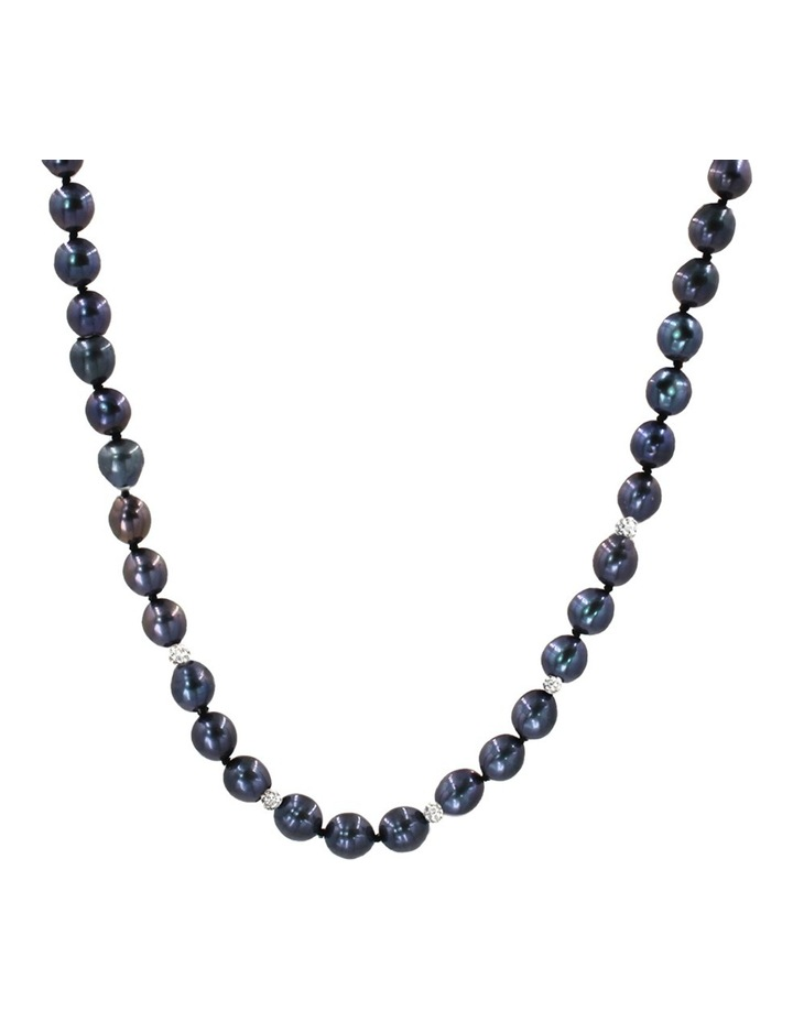 Freshwater Pearls and Crystal Roundels Short Necklace image 1