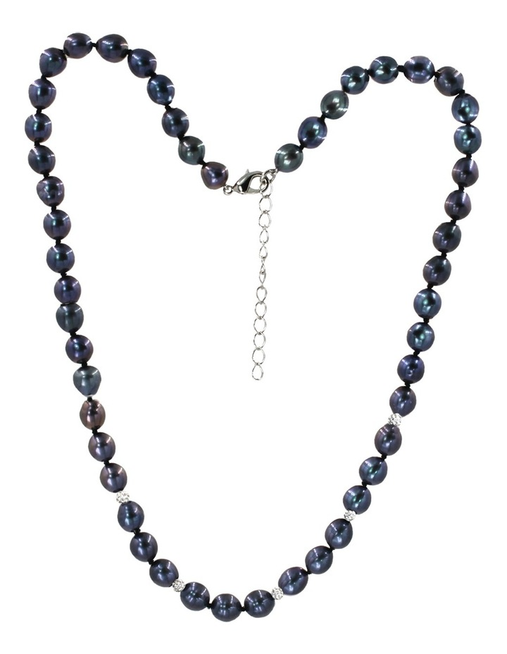 Freshwater Pearls and Crystal Roundels Short Necklace image 2