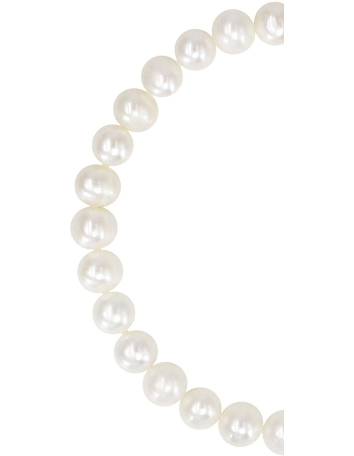 White Freshwater Pearl Elastic Bracelet image 3