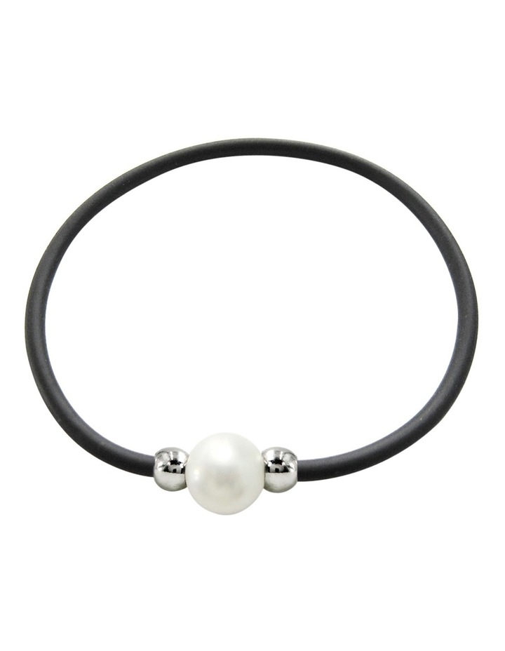 C0137BB-186 Pearl Black Cord Bracelet image 1